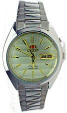 ORIENT Crystal 3Star Automatic Watch 21Jewels S,Steel Round Day&Date W Resistant