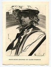 WEISBUCH CLAUDE GRAVURE 1977 SIGNÉE DANS LA PLANCHE SIGNED ETCHING PORTRAIT
