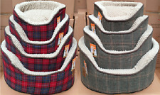 Riverside Luxury Super Soft Padded Quality Dog Beds Tartan & Tweed Designs