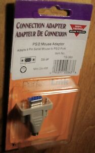 PS/2 male mini-dim 6M to serial DB9F female adapter converter for Mouse Plug PC