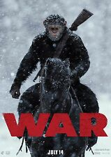War For the Planet of the Apes- A4 Glossy Poster - Film Movie Free Shipping #210