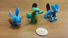 3rd Generation Pokemon plastic figure set(lot)of Mudkip Marshtomp Swampert