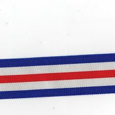 """Medal Ribbon 2nd. World War France & Germany Star. Full Size. Sold in 6"""" Lengths"""
