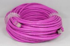 Cat5e 100' Shielded Crossover Cable (Purple) Networking Computer Cable 100 feet