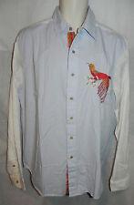 Triko Shirt Button Down Mens Large Ario Allure NWT $90