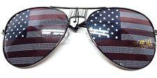 American USA Flag UV400 Aviator Sunglasses Black Frame