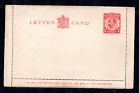 GB KGV 1913 Downey Head 1d Letter Card unused LCP6 WS18435