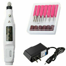 Portable Electric Nail File Drill Salon Machine Acrylic Manicure Pedicure Kit
