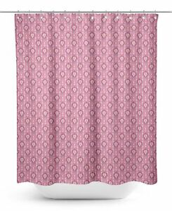 S4Sassy Pink Abstract Damask Water Repellent Bath Shower Curtain-z0r