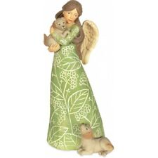 Pawsitively Adorable Angel with Puppy Figurine Pet Dog Decoration 7 Inch 8042