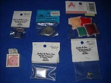 Miniature accessories: cake, cake stand, pizza box etc., 1:12 scale, Nib, lot #1
