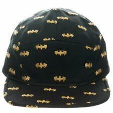 Batman Baseball Cap Cosplay Camper Hat Shield Design Black Yellow Licensed NWT