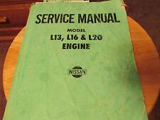 Nissan Service Manual Model L13, L16 & L20 Engine REPAIR JAPAN [ HAYNES CHILTON]