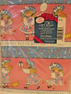 Vintage Forget Me Not Gift Wrap Wrapping Paper American Greetings Pink Girls NEW