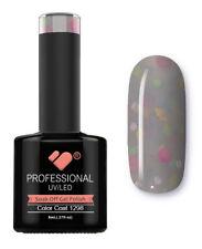 1298 VB Line Yogurt Pale Grey Neon Glitter - gel nail polish - super gel polish