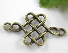 Free 10PCS Bronze Plated Chinese Knot Connector Pendant For Bracelet 31x18mm
