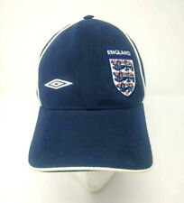 England Football Soccer Umbro Team Hat Navy Blue Strap Back Cap Adjustable M