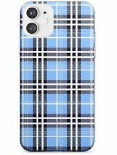 Designer Blue Plaid Slim TPU Case for iPhone Fashion Patterns Tartan Tweed