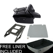 King Pack Trunk Pad Plate Mount Rack For Harley Tour Pak Touring Road King 14-20
