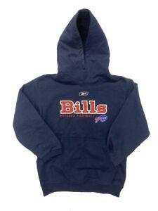 Buffalo Bills Kids Navy Pullover Hooded Sweatshirt (Large 7/8)