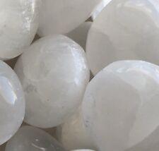 x1 Genuine Natural Selenite Crystal Tumbled Stone