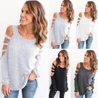 Fashion Women Ladies Loose Casual Long Sleeve T-Shirt Cotton Blouse Tops T-Shirt