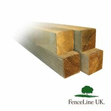 Pack of 4 2.4m (8ft) 2x2 (50mm) Treated Wooden Timber Fence Rails / Posts