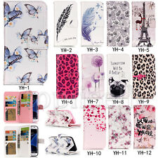 Flip Printed PU Leather Wallet Card S lot Stand Case Cover Bumper For Phone 9k