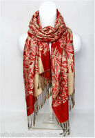 New Fashion Pashmina 100% Cashmere Womens Scarves Floral Stole Shawl Wrap Scarf