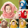 Fj- Kf _ Inverno Bambino Coniglio Orecchie Maglia Cappello Caldo con Sciarpa