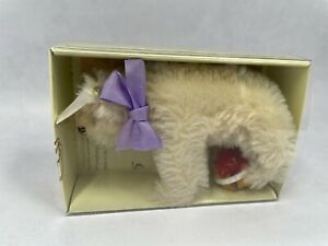 "Steiff White Polar Bear With Box and Certificate 4"" Long"