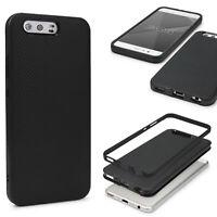 Huawei P10 Back Case Carbon Style Cover Dual Layer Schutzhülle TPU Schale