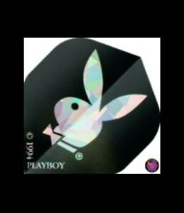 Vintage Playboy Bunny Hologram Dart Flights Black