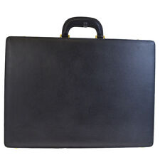 Authentic GUCCI Logos Men's Briefcase Hand Bag Leather Black Italy 62EG106