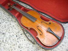 Nice old 4/4 Maggini Violin violon, odd purfling inlayed back, needs repair