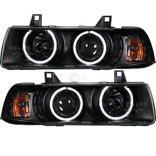 Scheinwerfer Set BMW E36 Coupe Cabrio CCFL Angel Eyes H1 H3 klar schwarz