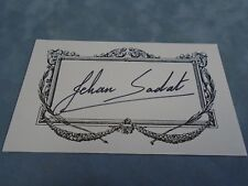 AUTHENTIC AUTOGRAPH **JEHAN SADAT (FIRST LADY OF EGYPT)**  COA STK#A1