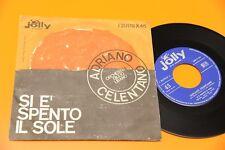 """CELENTANO 7"""" SI E' SPENTO IL SOLE ORIGINALE 1962  EX+ !!!!!!!!!!!!!!!!!!  TOOOPP"""
