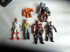 Lot of 6 Nice Vintage Action Figures Ghost Busters, Turtles etc