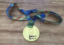 SIMONE BILES 2016 RIO OLYMPICS SIGNED REPLICA GOLD MEDAL  BECKETT CERTIFIED
