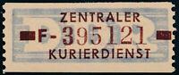 DDR-Dienst, B 20 F, Halle, tadellos postfrisch, Befund Dr. Ruscher, Mi. 180,-