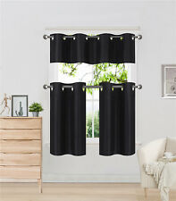 3PC SET WINDOW DRESSING CURTAIN SOLID LINED BLACKOUT PANEL DRAPE TREATMENT K9