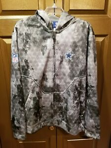 *RARE* NEW Men's Dallas Cowboys Reebok On Field Hoodie Zip up Jacket Coat