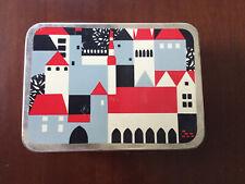 Vintage 1970 Tin Box Estonia Norma Factory Tallinn USSR Red Black White Blue