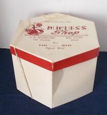 Vintage 1950s/1960s Ladies' Cardboard Hat Box-Duchess Shop-San Angelo, Texas