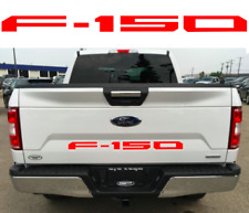ABS PLASTIC Gloss Red Tailgate Inserts For 2018+ Ford F150 New Free Shipping USA