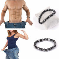 Magnetic Therapy Bracelet Beads Hematite Stone Health Care Weight Loss Jewelry