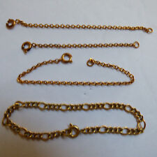 VTG lot of 4 jewelry Gold tone & 12KGF chain link bracelet & necklace extenders
