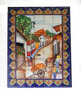 #41 Mexican Talavera Mosaic Mural Tile Handmade Carriage