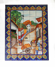 #41 Mexican Talavera Mosaic Mural Tile Handmade Carriage